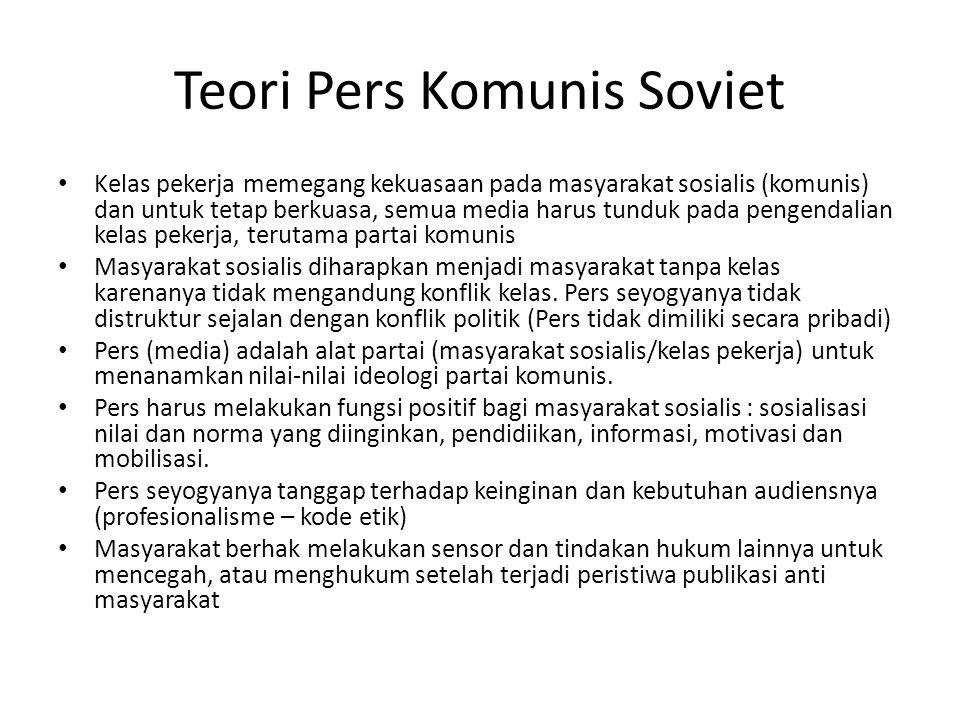Teori Pers Komunis Soviet