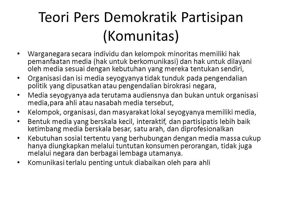 Teori Pers Demokratik Partisipan (Komunitas)