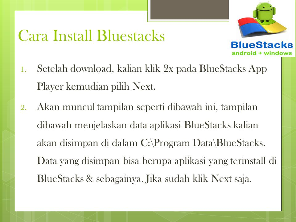 Cara Install Bluestacks