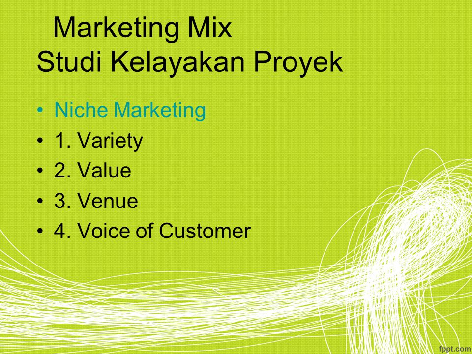 Marketing Mix Studi Kelayakan Proyek