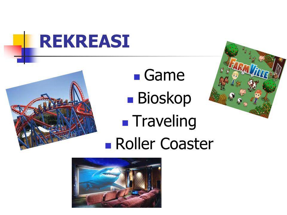 REKREASI Game Bioskop Traveling Roller Coaster