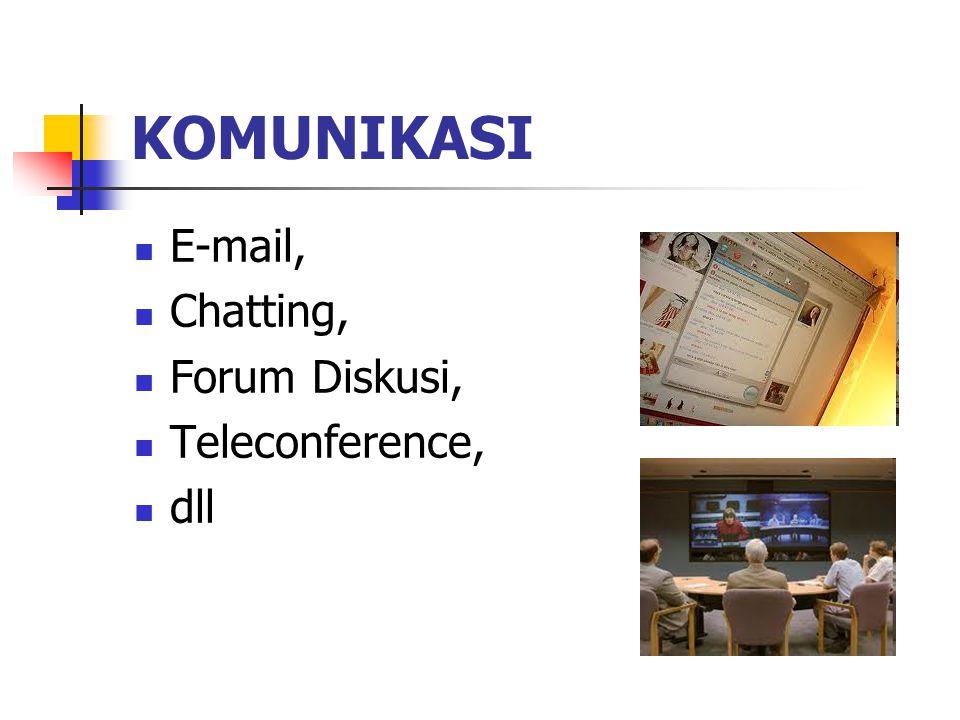 KOMUNIKASI E-mail, Chatting, Forum Diskusi, Teleconference, dll