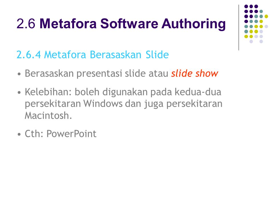 2.6 Metafora Software Authoring