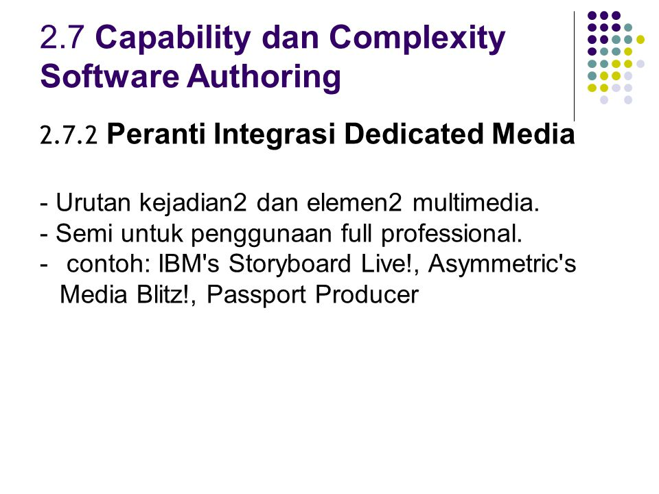 2.7 Capability dan Complexity Software Authoring