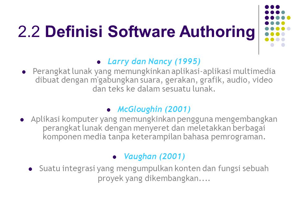 2.2 Definisi Software Authoring