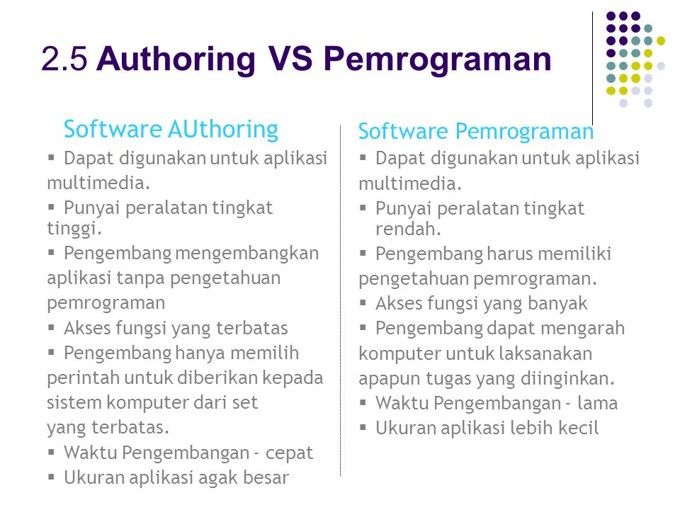 2.5 Authoring VS Pemrograman