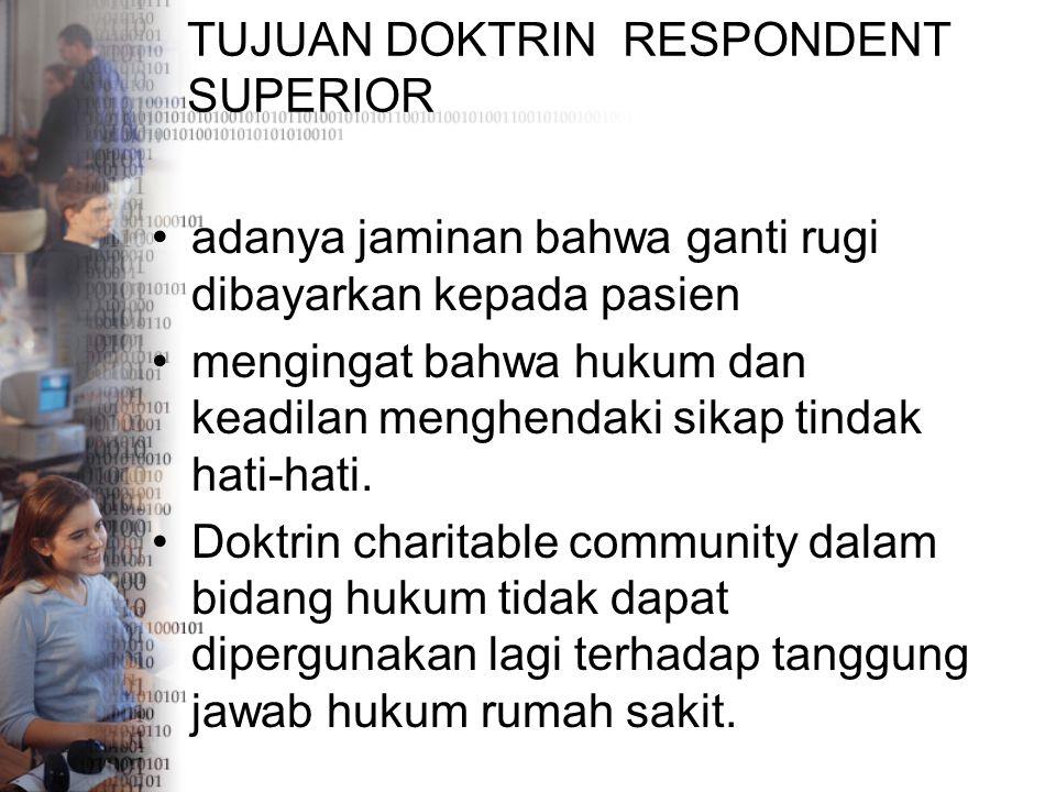 TUJUAN DOKTRIN RESPONDENT SUPERIOR