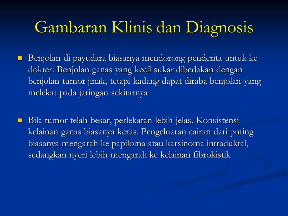 Gambaran Klinis dan Diagnosis