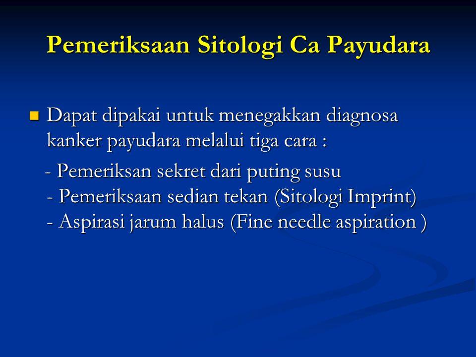 Pemeriksaan Sitologi Ca Payudara
