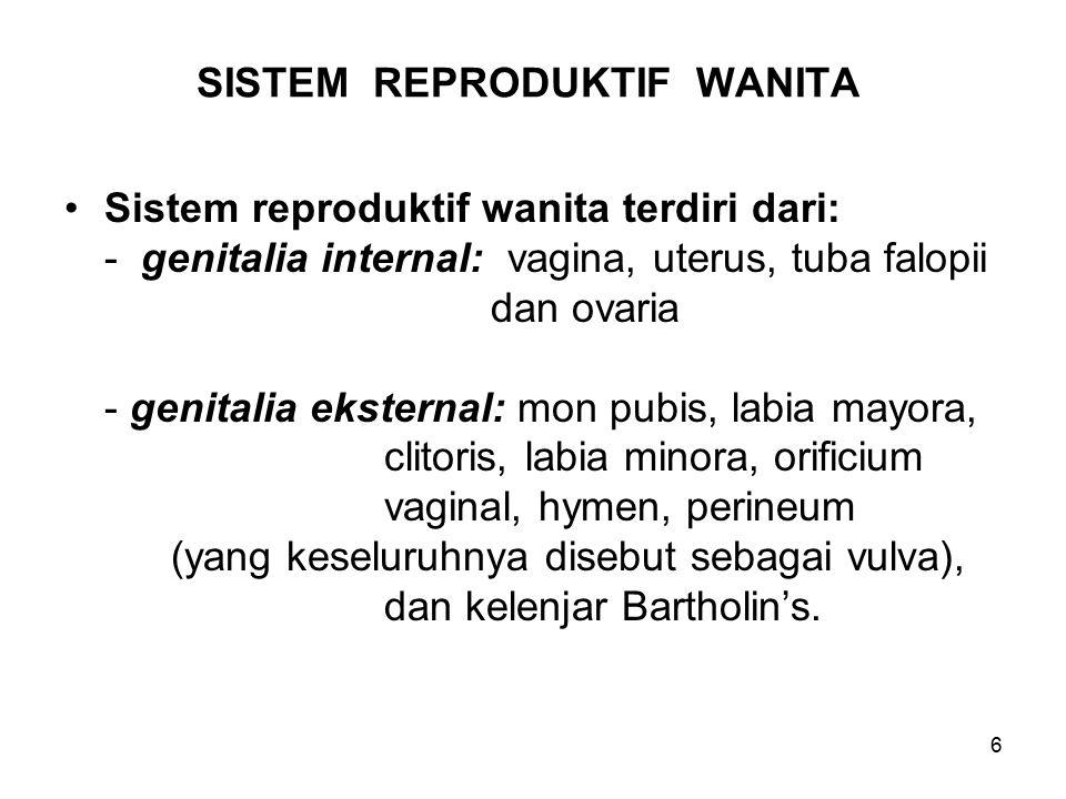 SISTEM REPRODUKTIF WANITA
