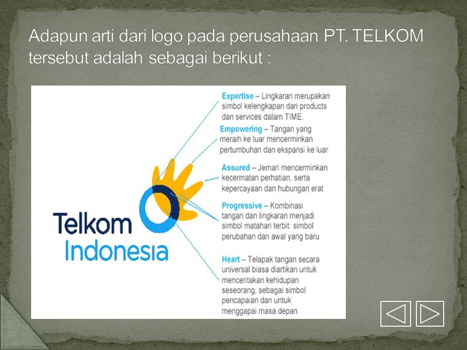 Adapun arti dari logo pada perusahaan PT