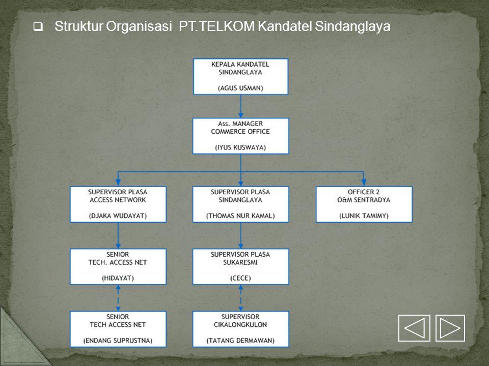 Struktur Organisasi PT.TELKOM Kandatel Sindanglaya