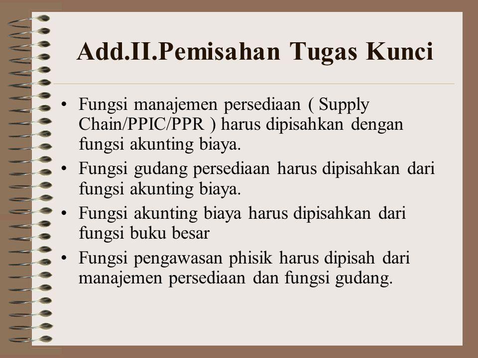 Add.II.Pemisahan Tugas Kunci