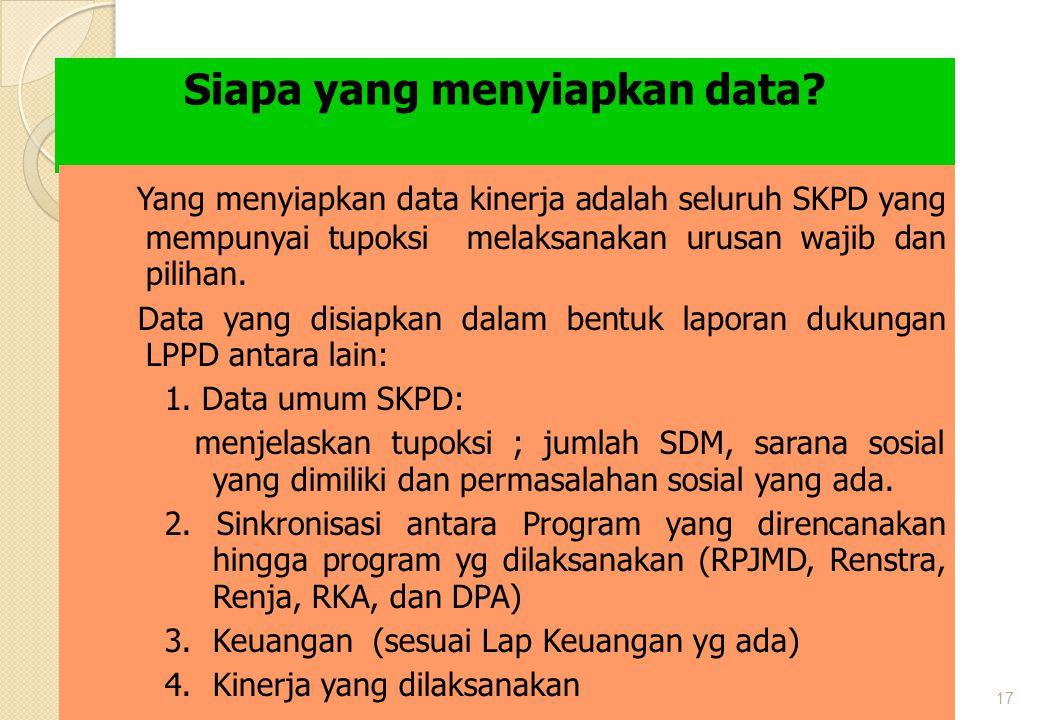 Siapa yang menyiapkan data