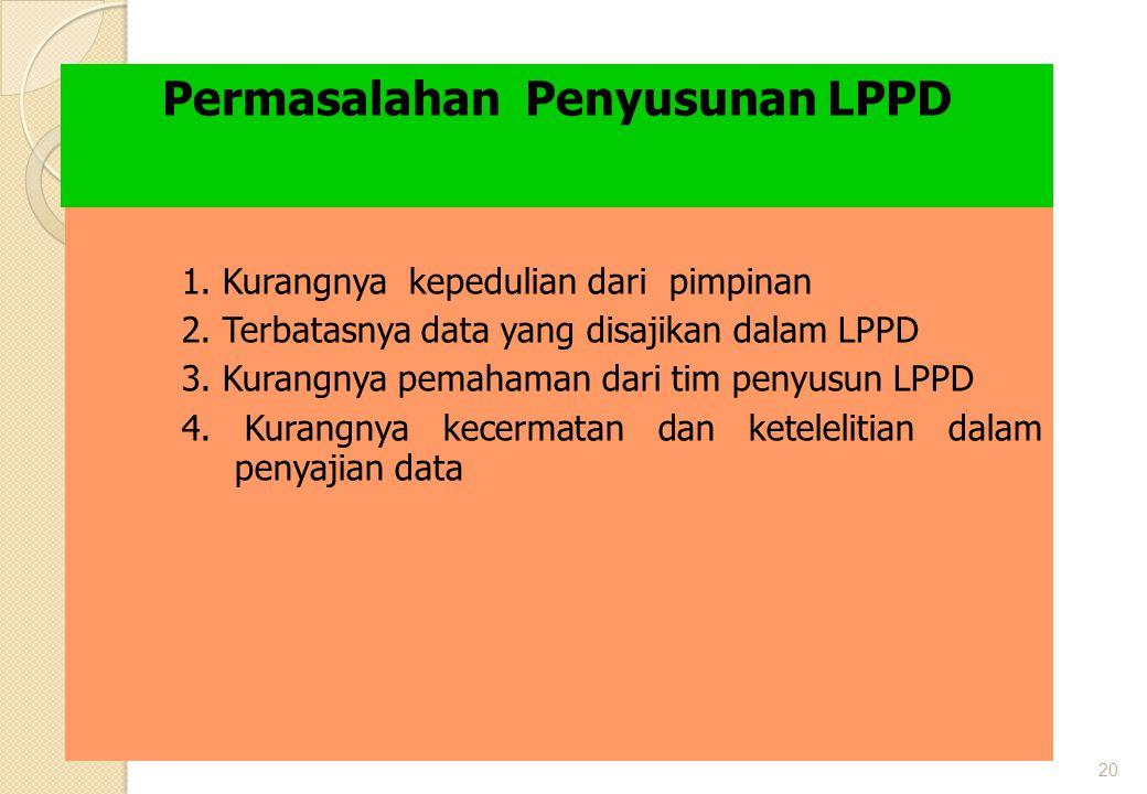Permasalahan Penyusunan LPPD