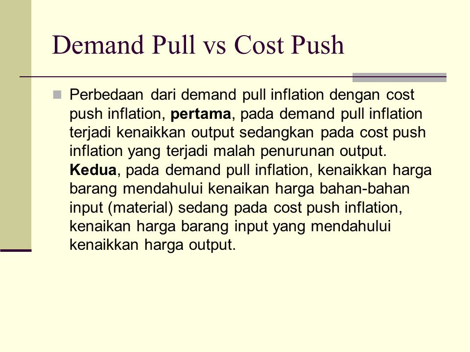 Demand Pull vs Cost Push