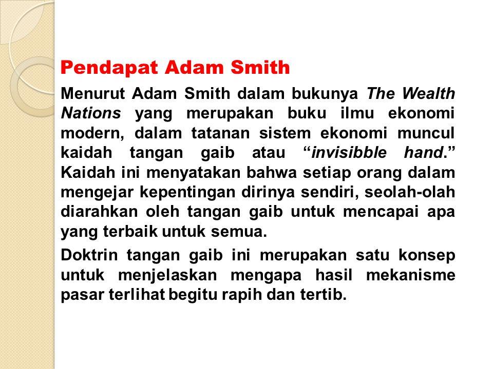 Pendapat Adam Smith