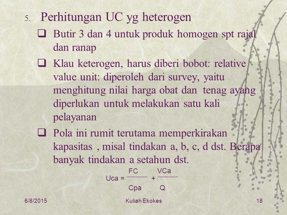 Perhitungan UC yg heterogen