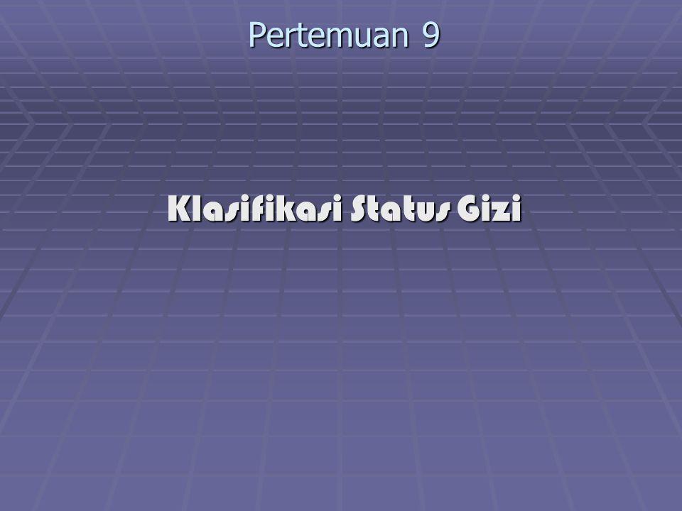 Klasifikasi Status Gizi