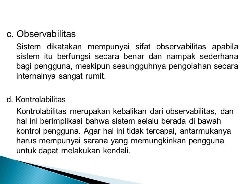 c. Observabilitas