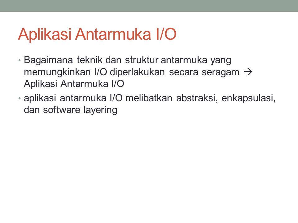 Aplikasi Antarmuka I/O