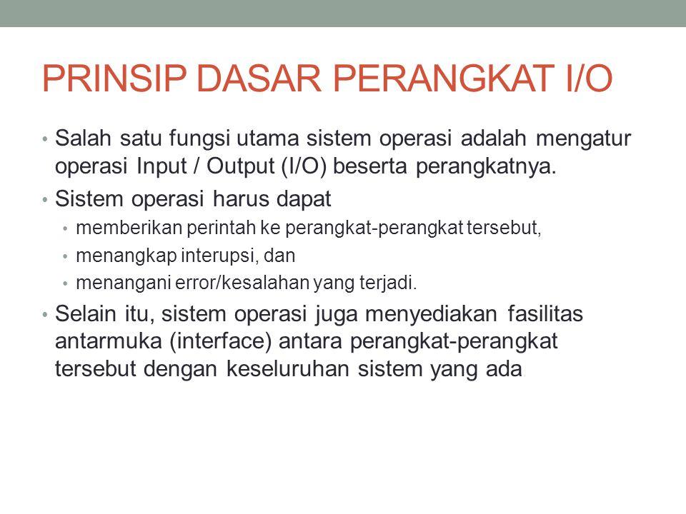 PRINSIP DASAR PERANGKAT I/O