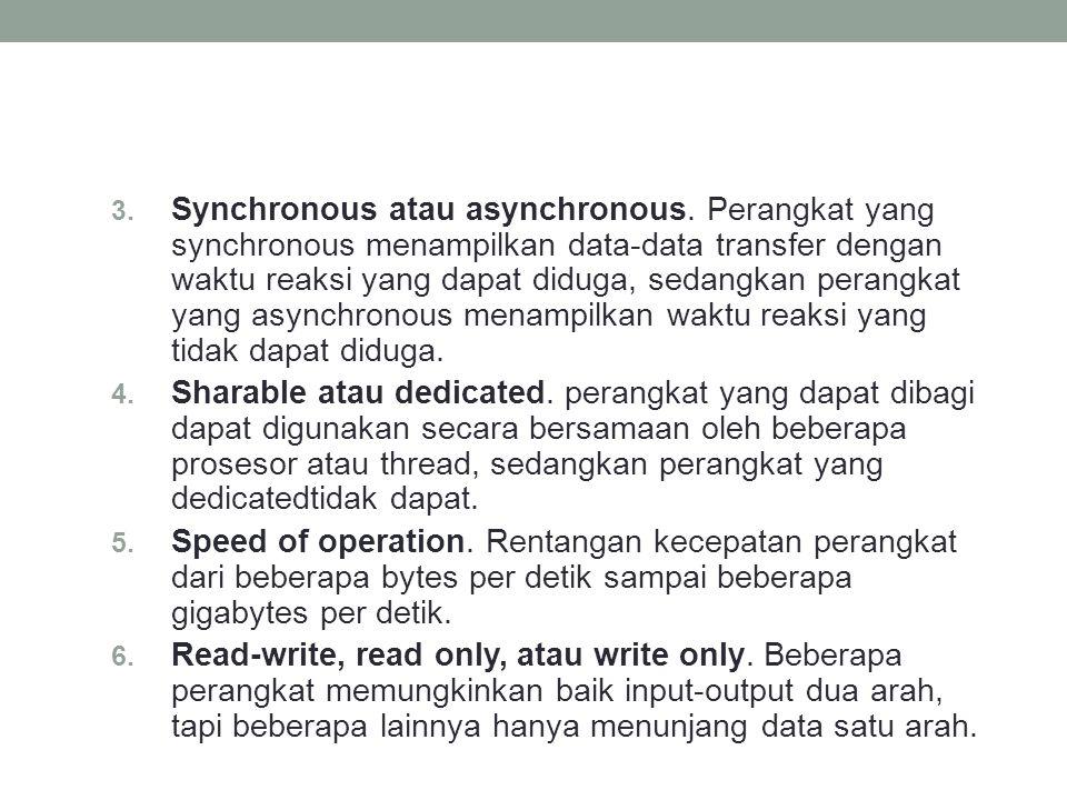 Synchronous atau asynchronous
