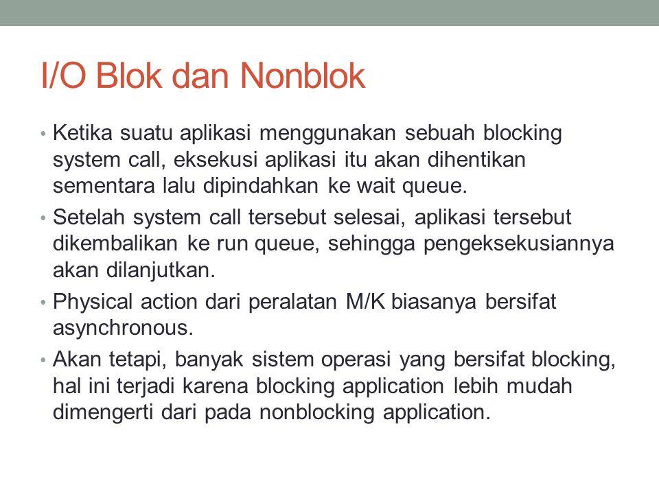 I/O Blok dan Nonblok