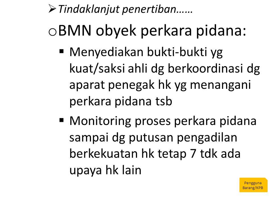 BMN obyek perkara pidana: