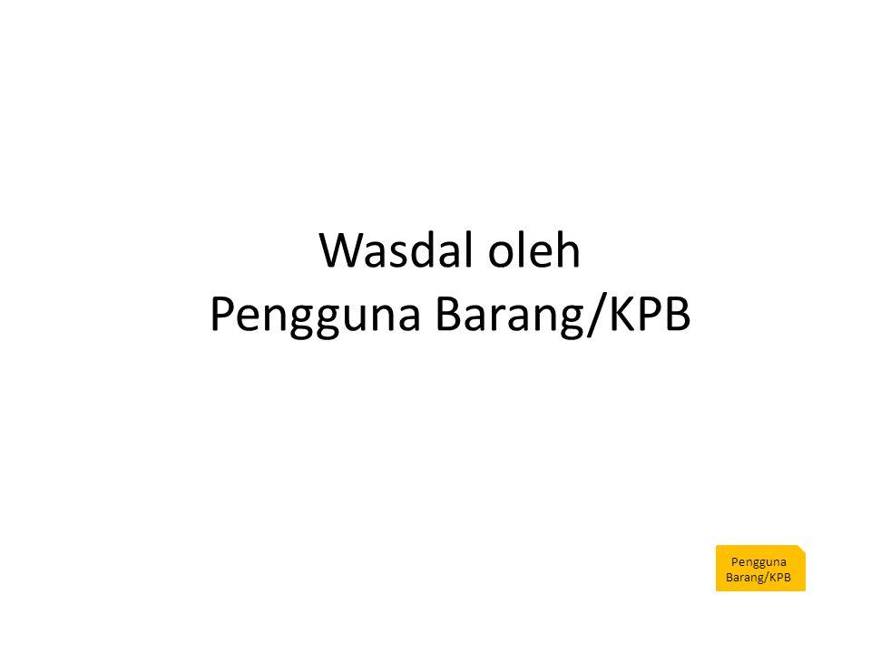 Wasdal oleh Pengguna Barang/KPB