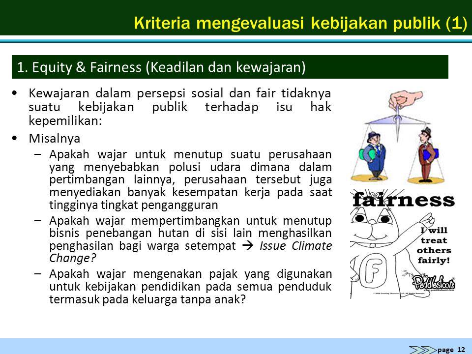 Kriteria mengevaluasi kebijakan publik (1)
