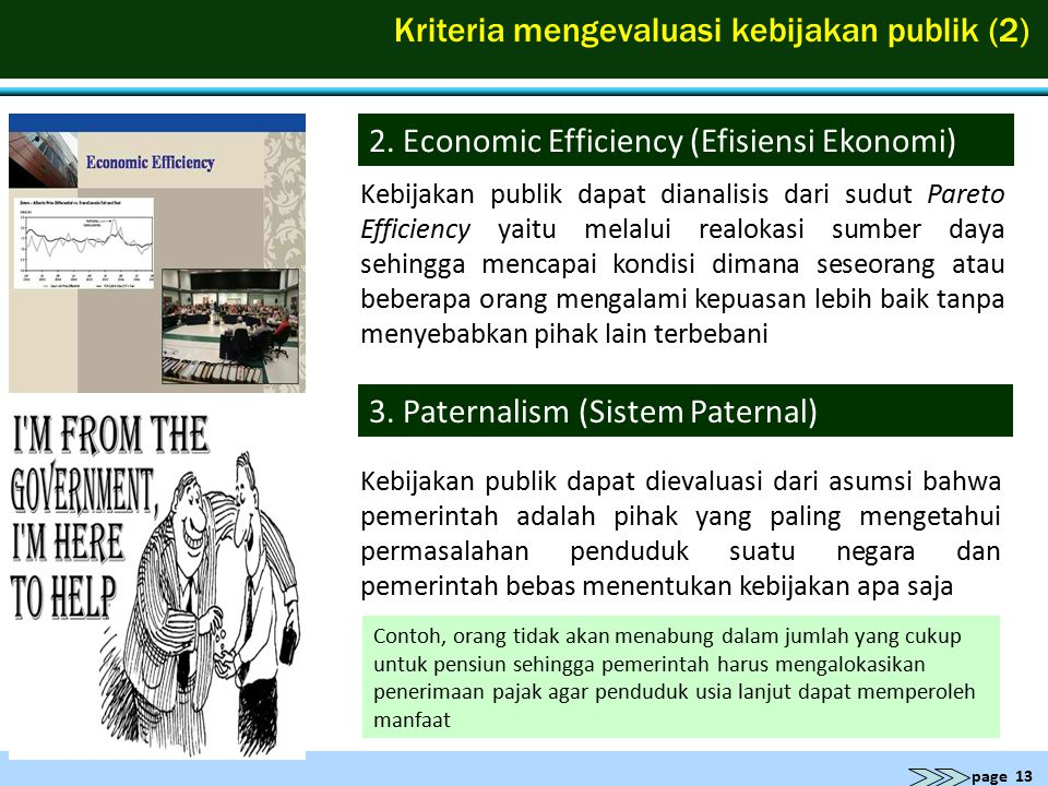 Kriteria mengevaluasi kebijakan publik (2)