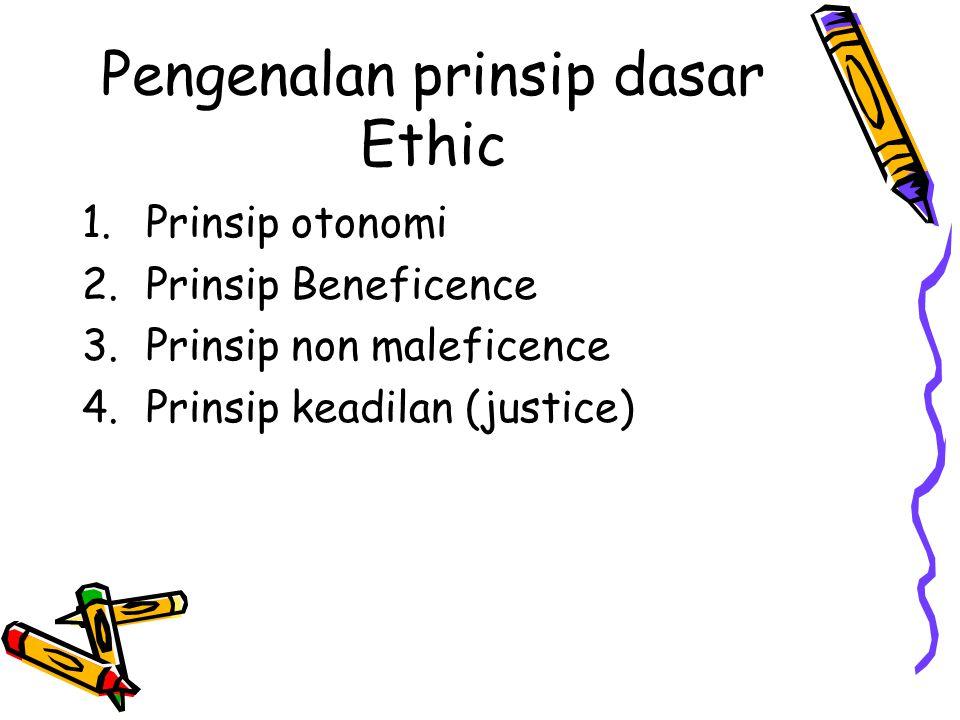 Pengenalan prinsip dasar Ethic