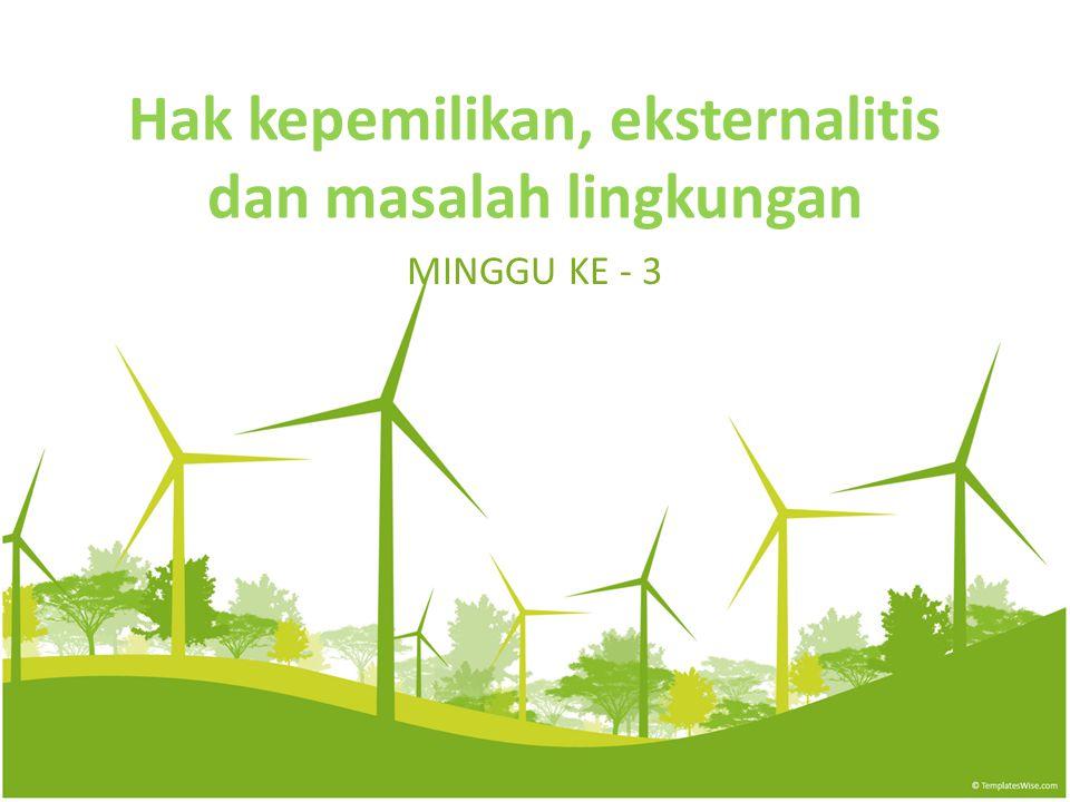 Hak kepemilikan, eksternalitis dan masalah lingkungan