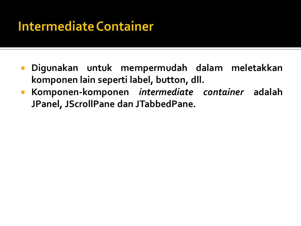 Intermediate Container