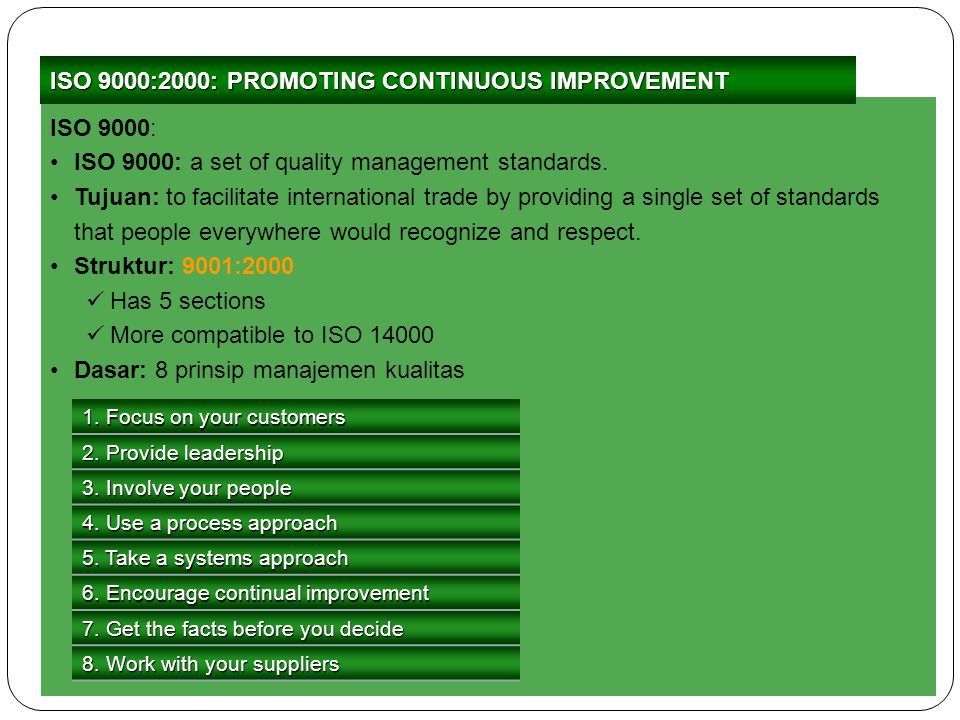 ISO 9000:2000: PROMOTING CONTINUOUS IMPROVEMENT