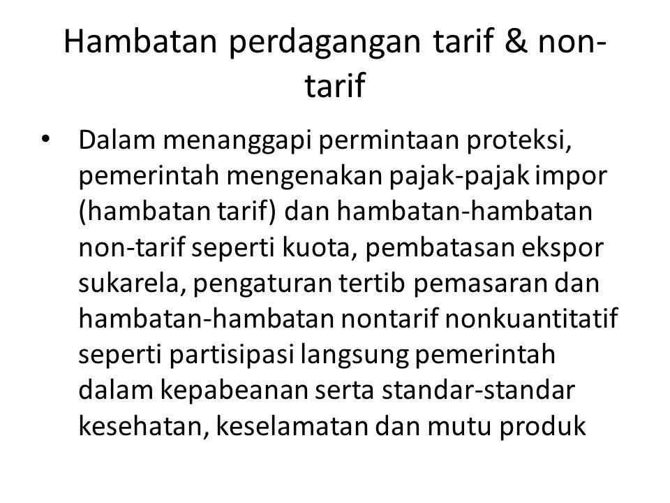 Hambatan perdagangan tarif & non-tarif