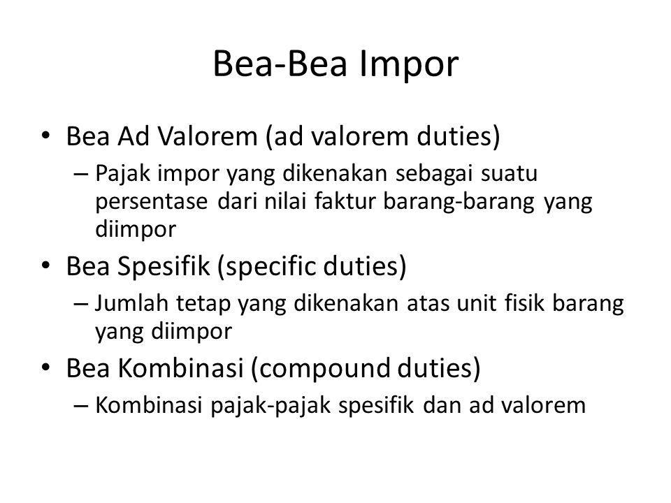 Bea-Bea Impor Bea Ad Valorem (ad valorem duties)