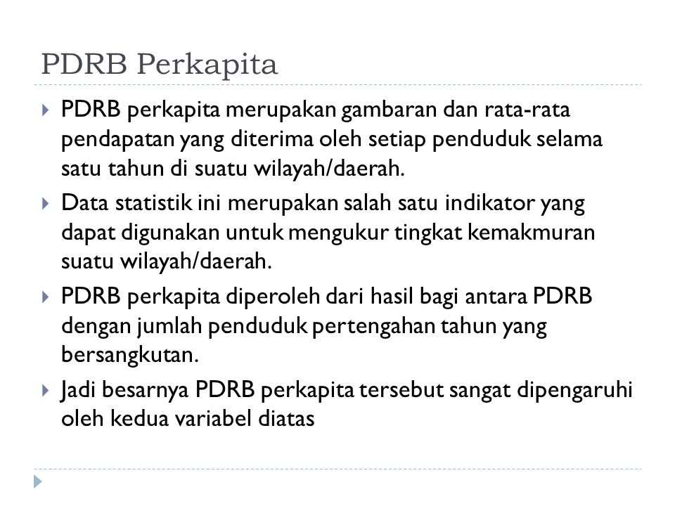 PDRB Perkapita
