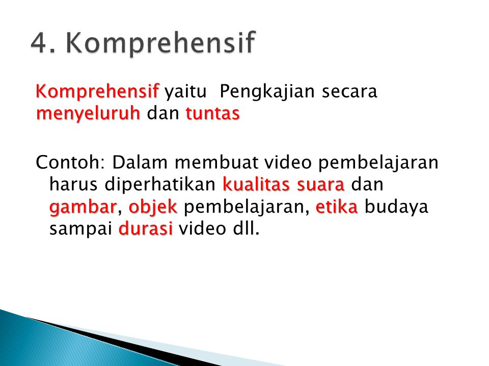 4. Komprehensif