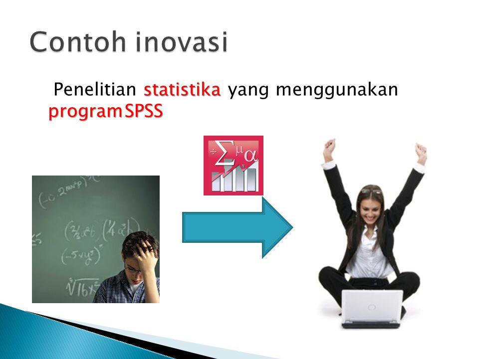 Contoh inovasi Penelitian statistika yang menggunakan program SPSS