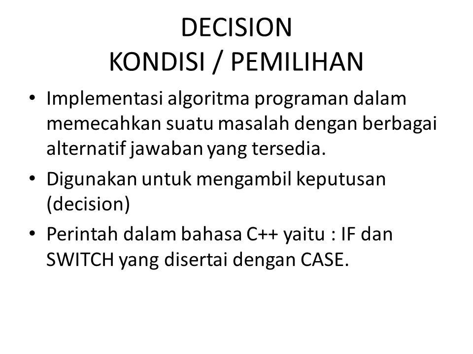 DECISION KONDISI / PEMILIHAN