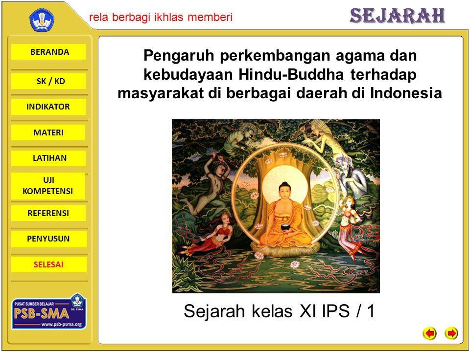 Pengaruh perkembangan agama dan kebudayaan Hindu-Buddha terhadap masyarakat di berbagai daerah di Indonesia