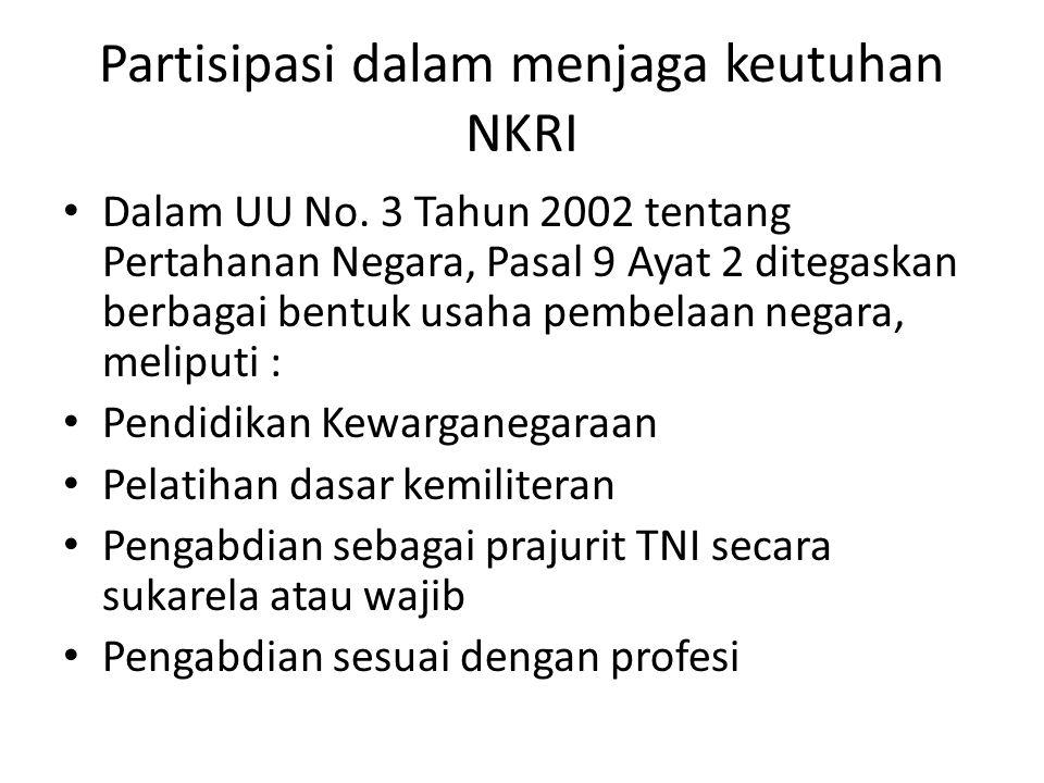 Partisipasi dalam menjaga keutuhan NKRI