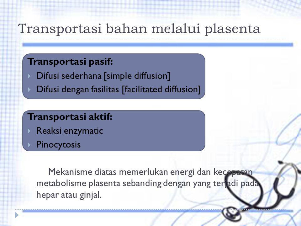 Transportasi bahan melalui plasenta