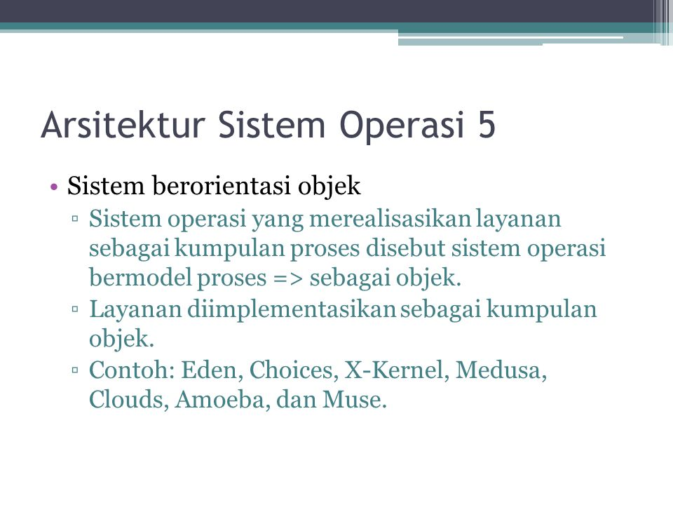 Arsitektur Sistem Operasi 5