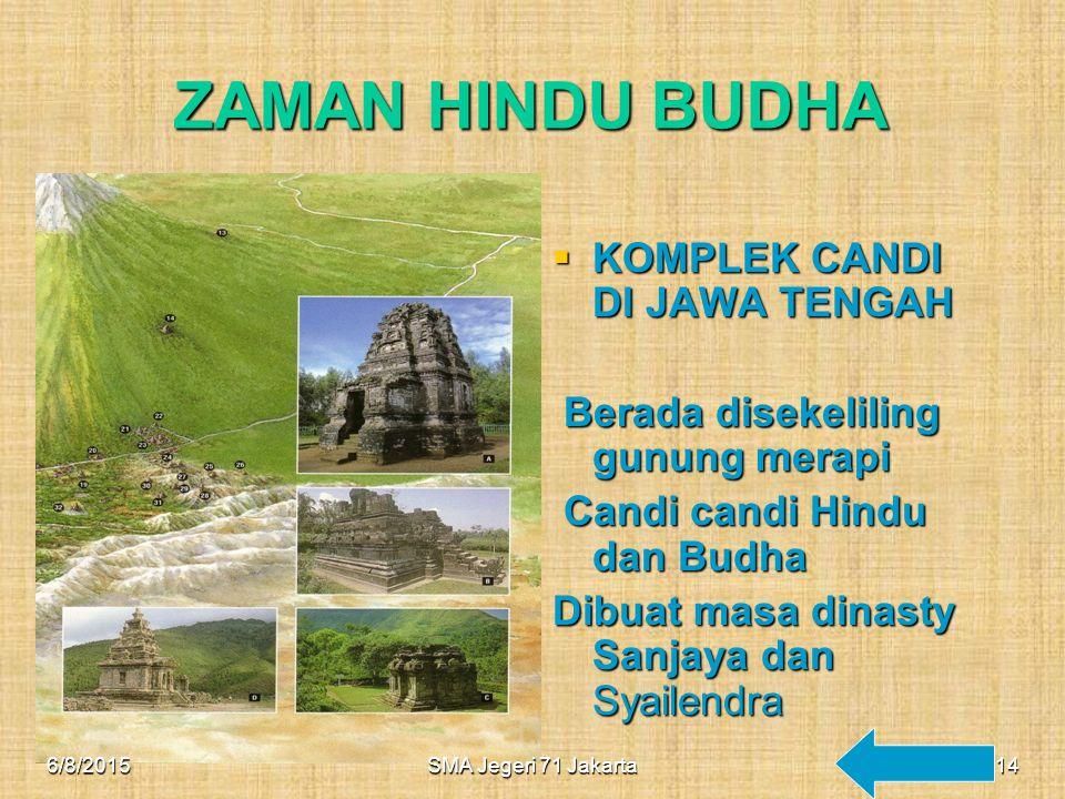 ZAMAN HINDU BUDHA KOMPLEK CANDI DI JAWA TENGAH