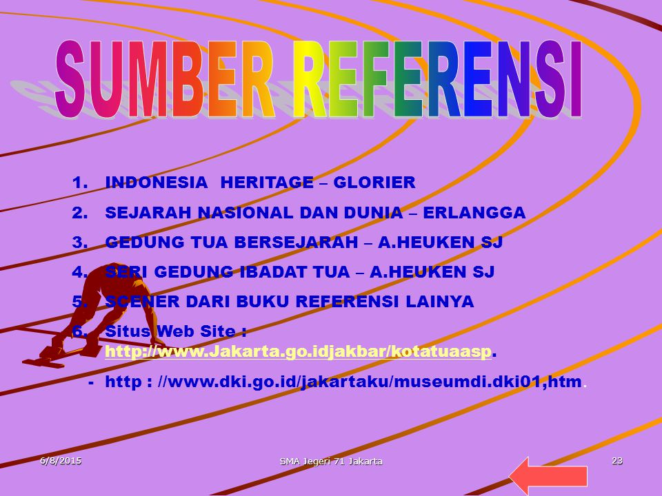 SUMBER REFERENSI INDONESIA HERITAGE – GLORIER