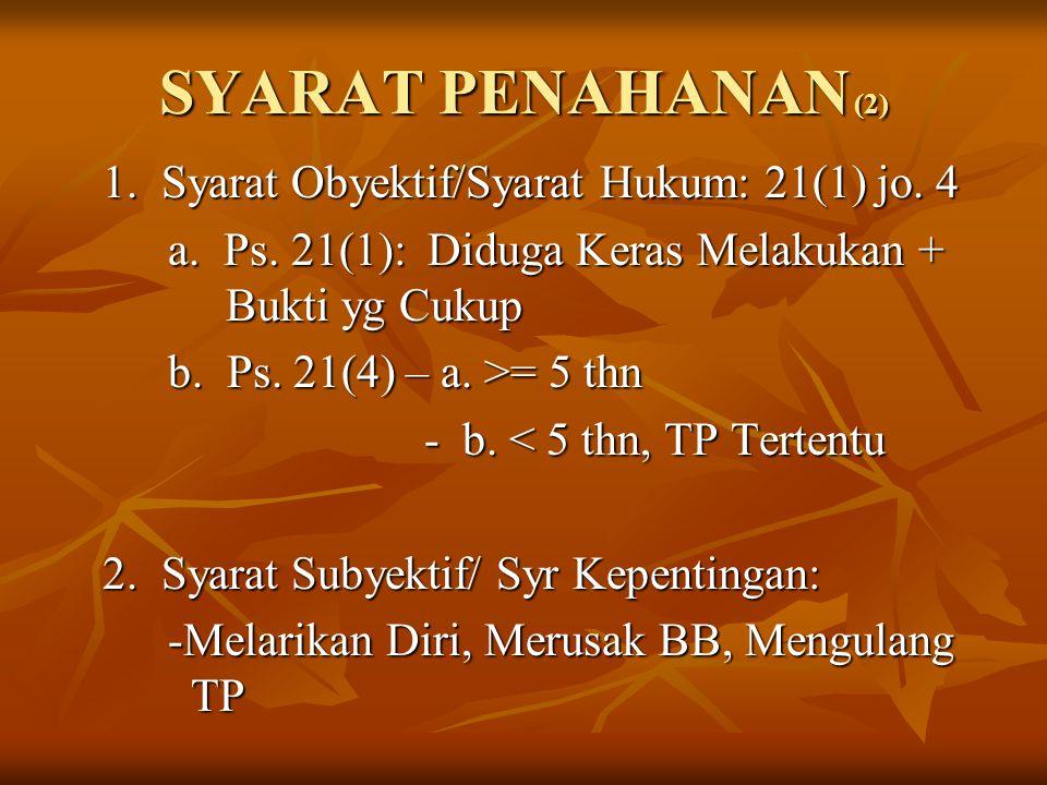 SYARAT PENAHANAN (2)