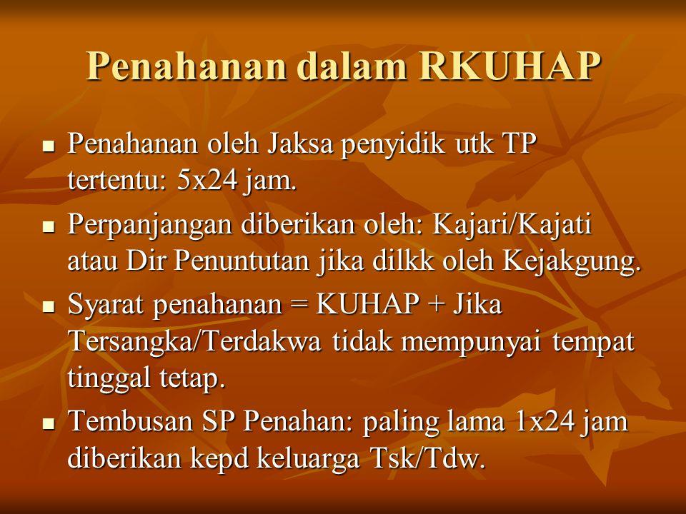Penahanan dalam RKUHAP
